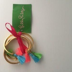 Lilly Pulitzer GWP Tassel Cuffs - Set of 3 - NWT